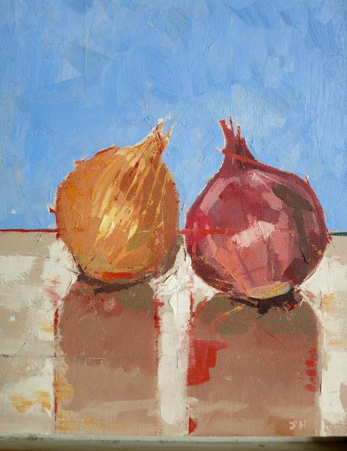Onions | 2004 | Oil on board | 36.5 x 29 cm