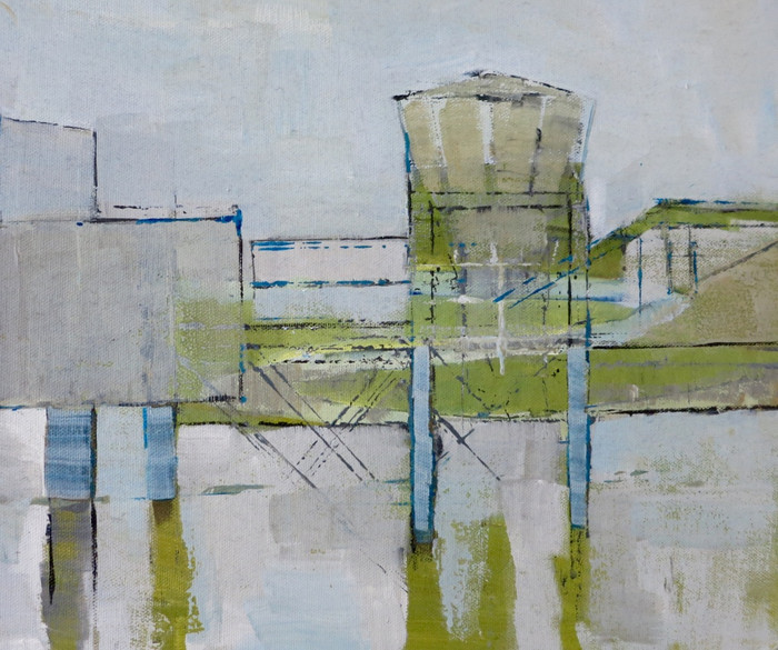 Industry series - tower   2014   Oil on board   30 x 40 cm