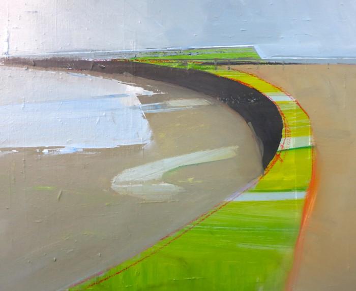 Newhaven Beach | c.2014 | Oil on canvas | 45.7 x 45.7cm
