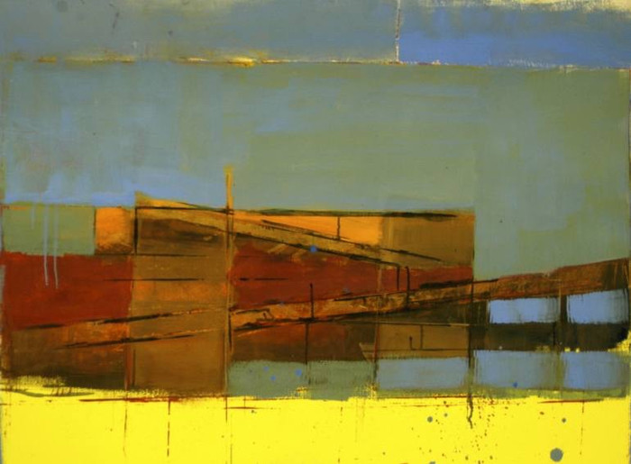 Estuary   2013   Oil on paper   68 x 101 cm