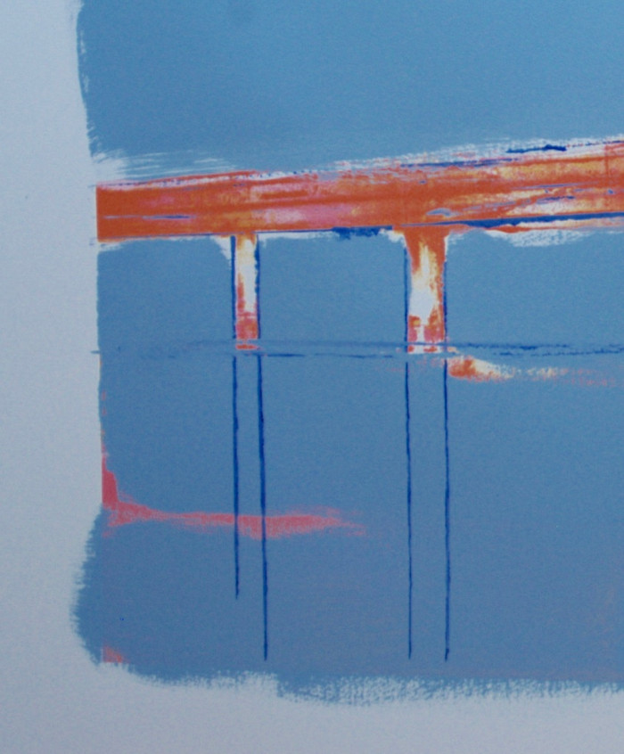 Red jetty   2014   Oil on paper   80 x 122 cm