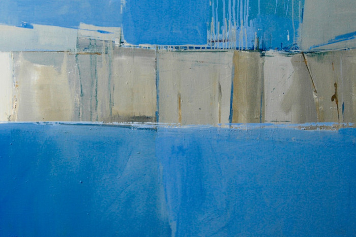From the sea at Birling Gap | c.2013 | Oil on canvas | 66 x 97 cm