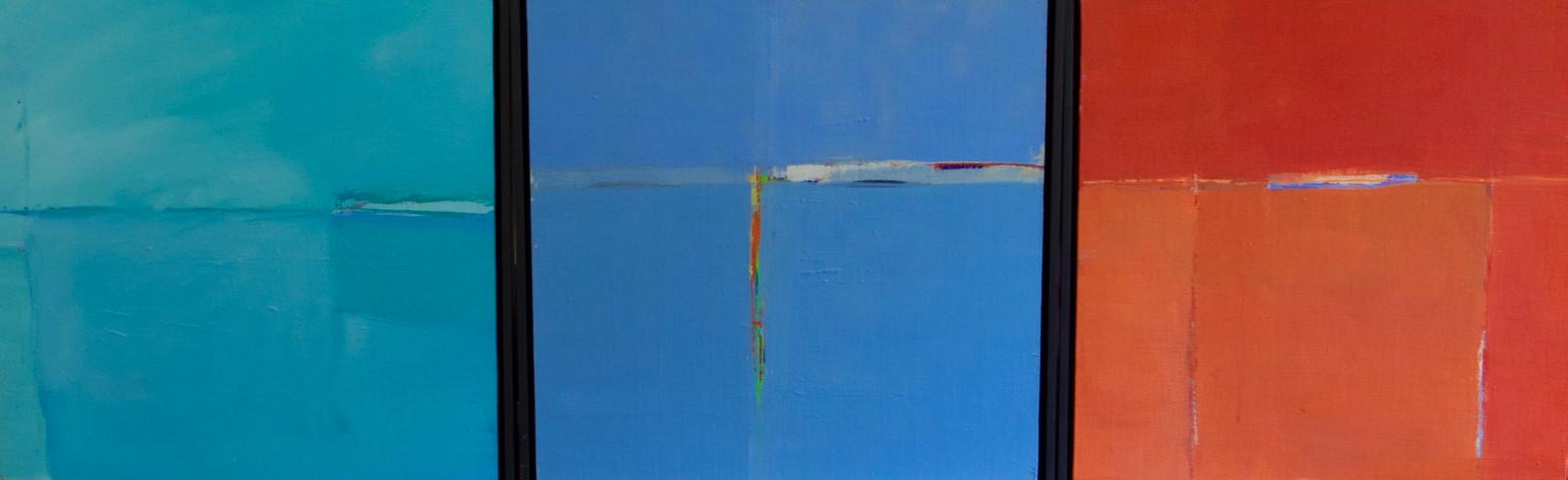 Headland I, II and III triptych | c.2011 | Oil on board | each panel 42 x 42 cm