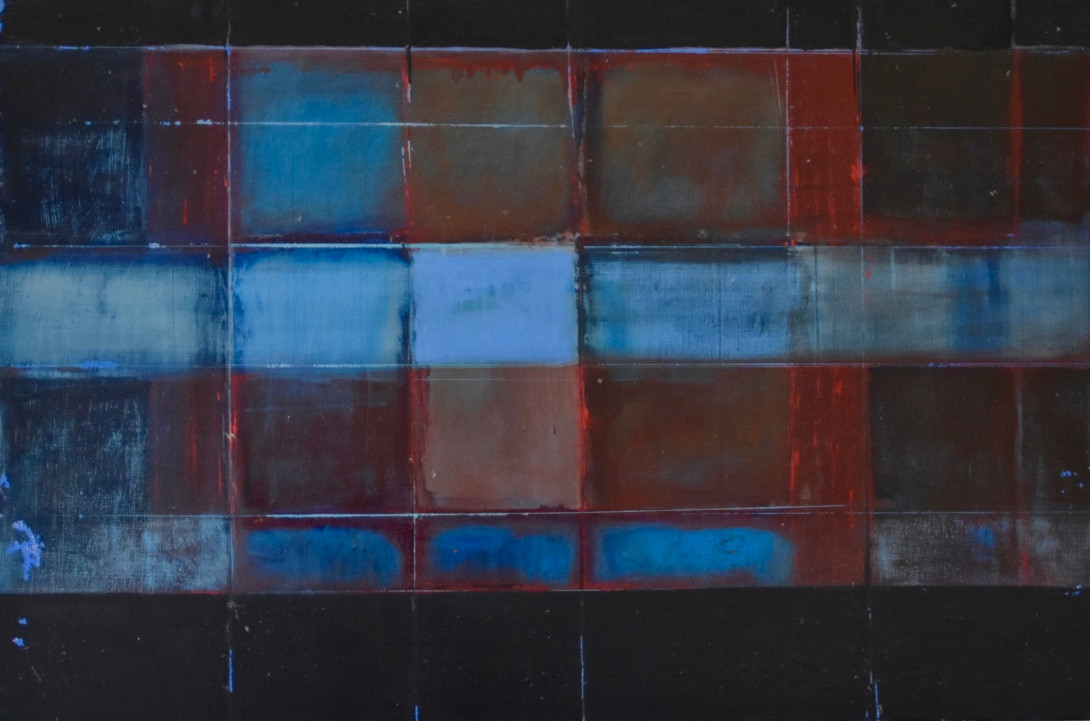 Untitled black red and blue | c.2004 | Oil on canvas | 61 x 76.2 cm