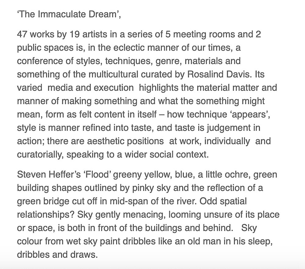 'Immaculate Dream' - click below for link to article