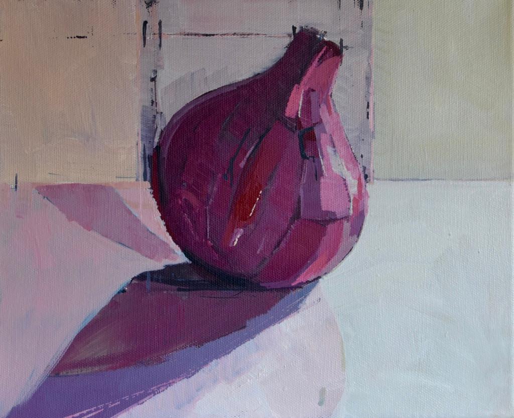 Large Onion | 2013 | Oil on canvas 25.4 x 30.5 cm