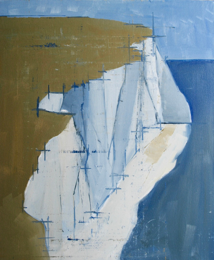 Seaford Cliffs | 2015 | Acrylic on canvas | 60 x 50 cm