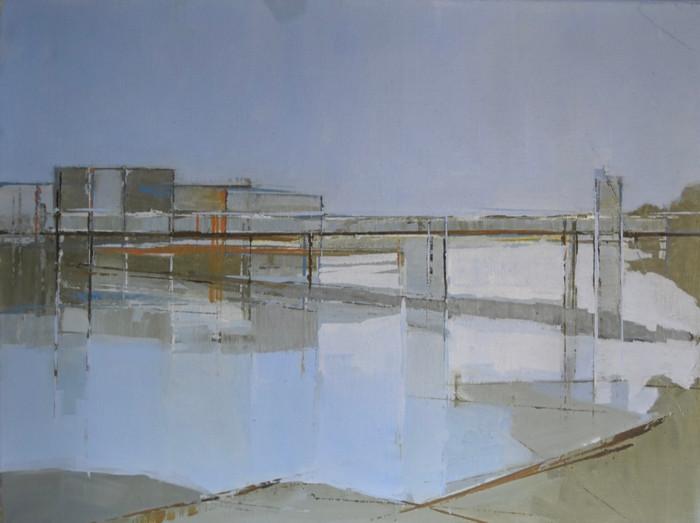 From Putney Bridge   2013   Oil on canvas   32 x 42 cm