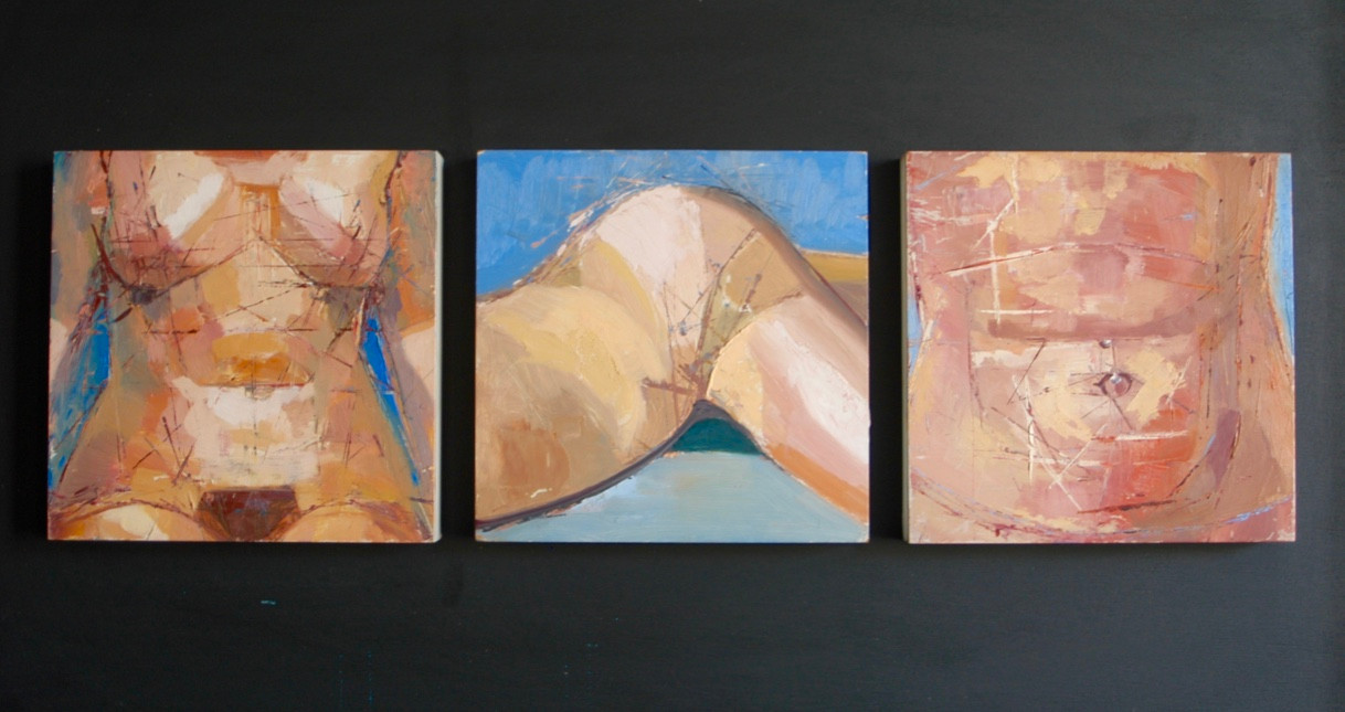 Body parts triptych | 2001 | Oil on board | 61 x 105.5 cm