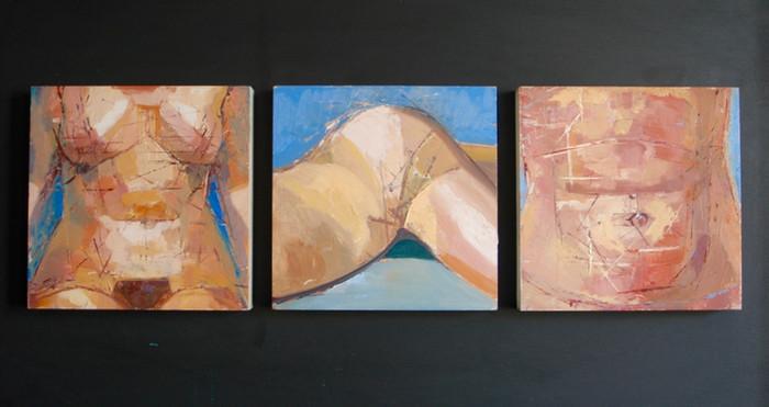 Body parts triptych | 2001 | Oil on board | 61 x 105.5 cm