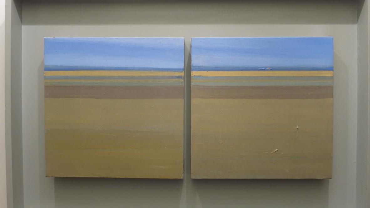 Holkham Beach | c.2002 | Oil on canvas | 53.3 x 81.3 cm
