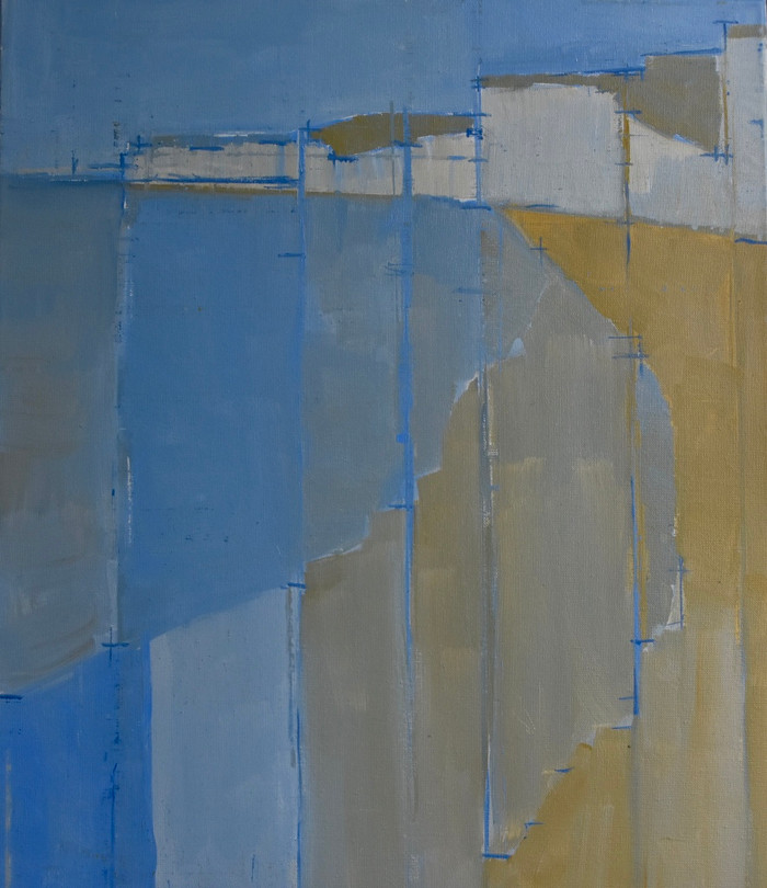 West from Birling II | 2015 | Acrylic on canvas | 60 x 50 cm