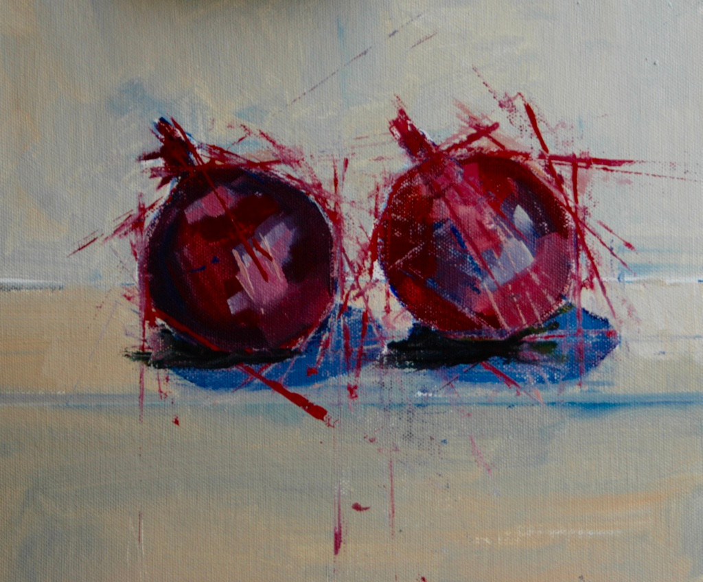 Two red onions | 2013 | Oil on board | 30 x 30 cm