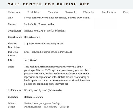 Yale Centre for British Art