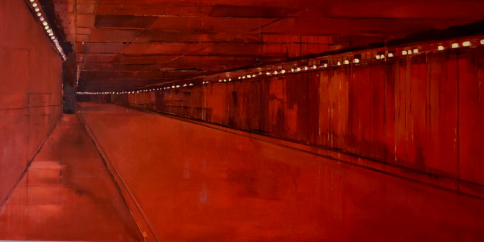 Red Underpass   2000   Oil on canvas   76.2 x 152.5 cm