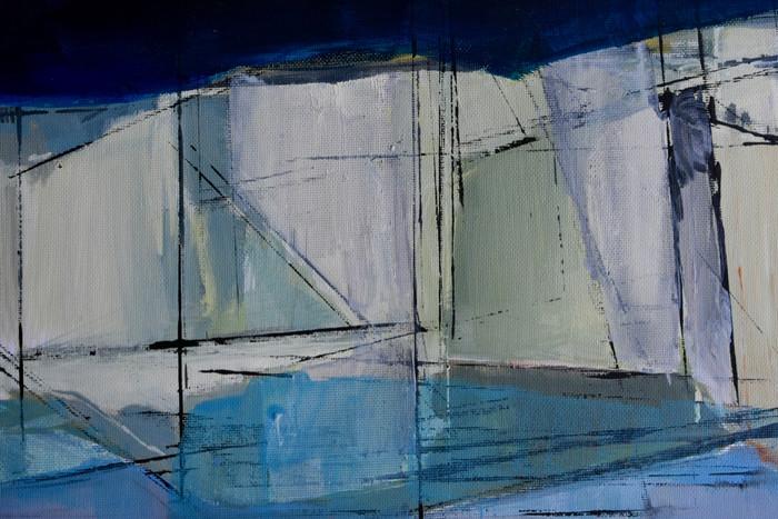 Cliff sketch | c.2014 | Acrylic on paper | 31 x 40 cm