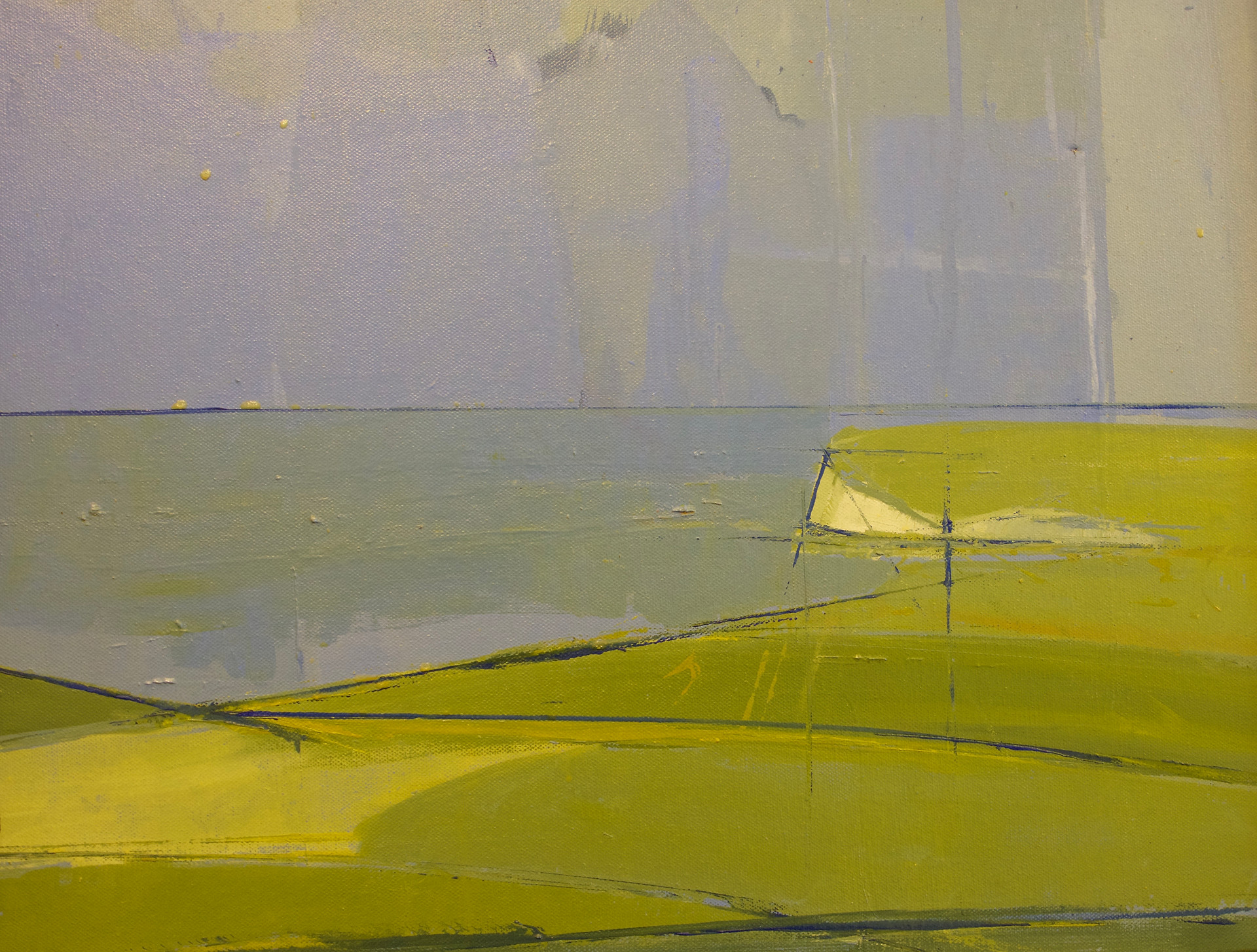 Across the downs | c.2011 | Oil on canvas | 45 x 55 cm