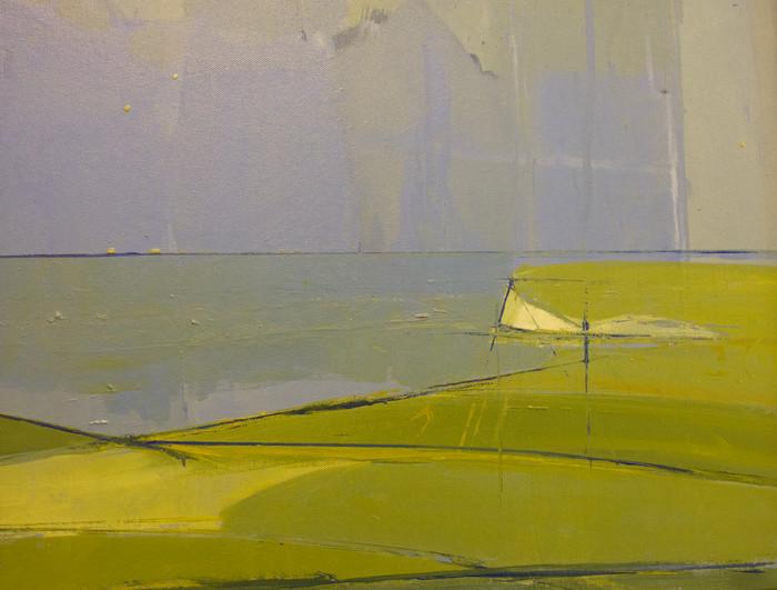 Across the downs | c.2011 | Oil on canvas | 45 x 55 cm