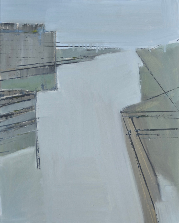 Newhaven Harbour | 2015 | Oil on canvas | 61 x 45.7 cm