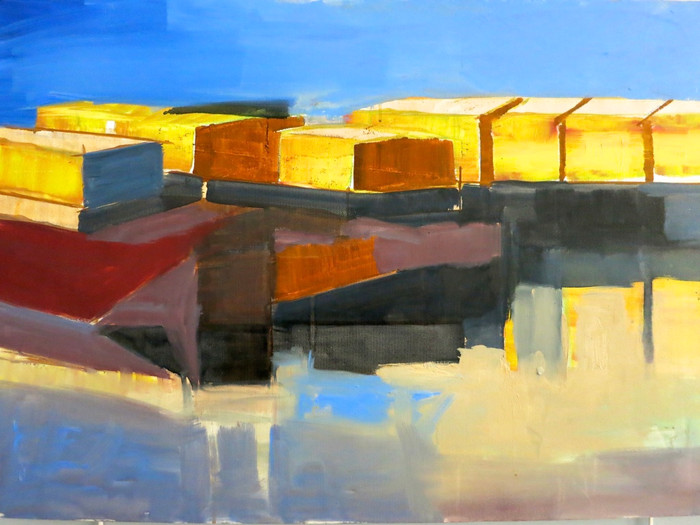 Barges   2006   Oil on canvas   61 x 91.4 cm