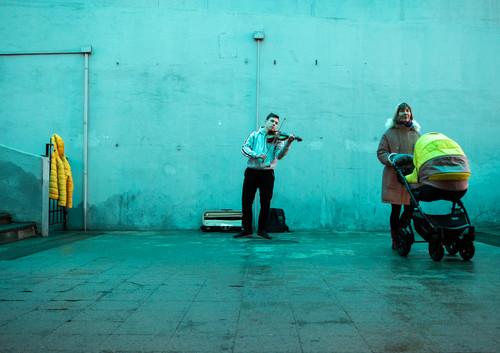 Musician With Yellow Jacket, Kazan 2020.j