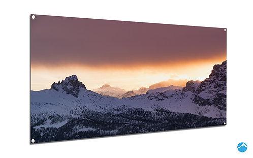 Berg Schnee Sunset