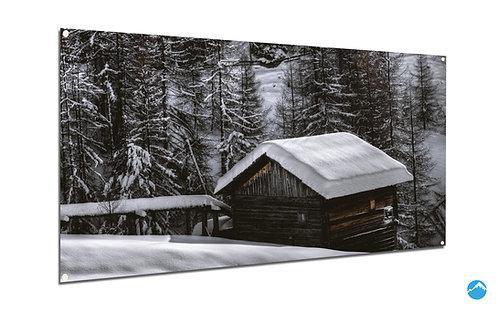 Hütte Wald Schnee