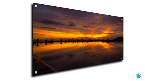 Sunset Meer Orange
