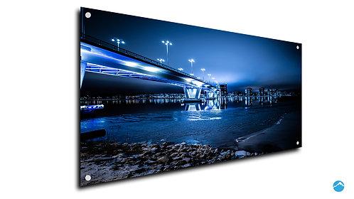 Skyline Brücke Blau