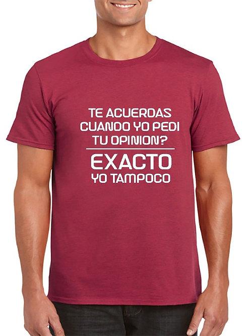Camiseta opinion