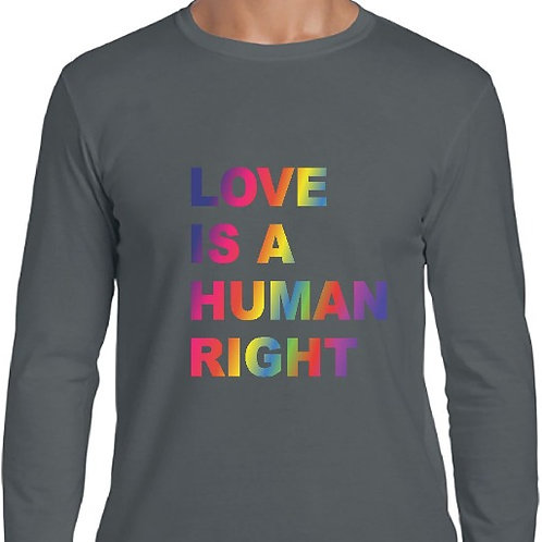Camiseta Love is a human right