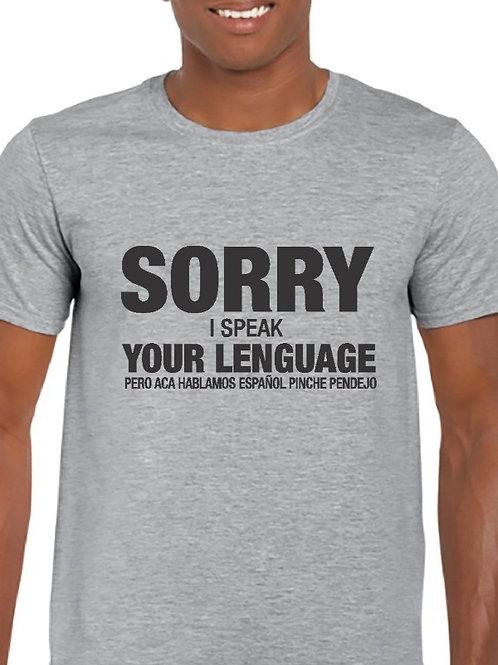 Camiseta Sorry