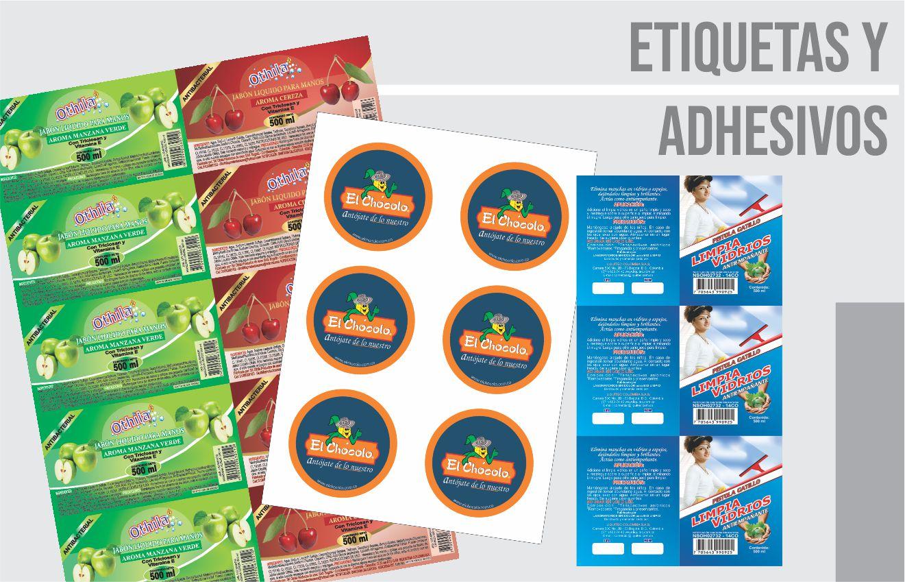 etiquetas y adhesivos impresos