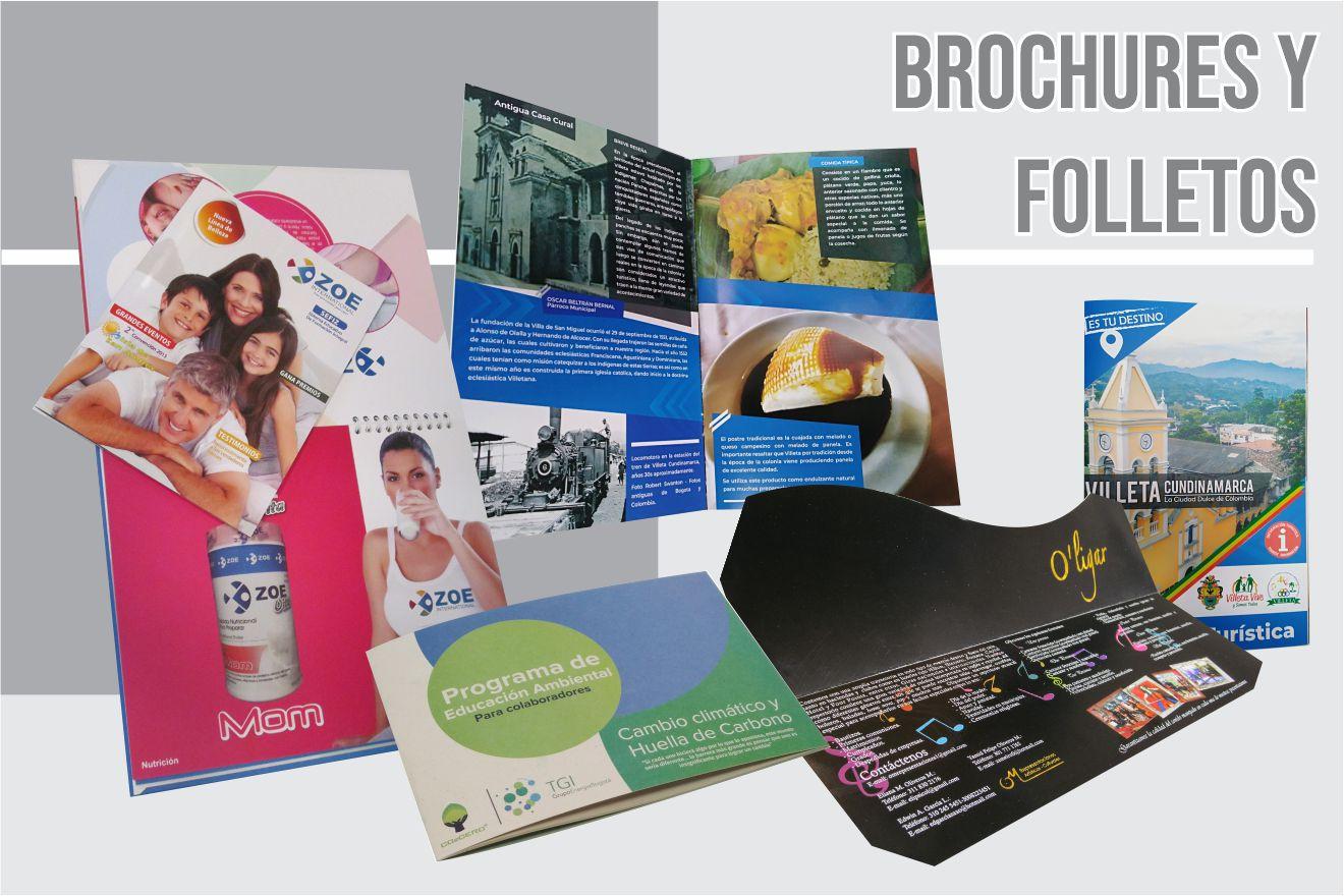 brochures, catálogos y revistas
