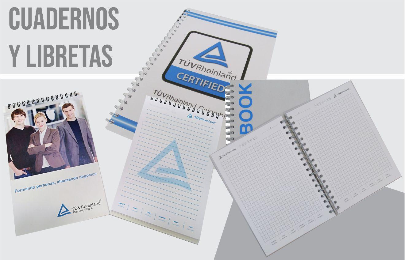 cuadernos y libretas impresos