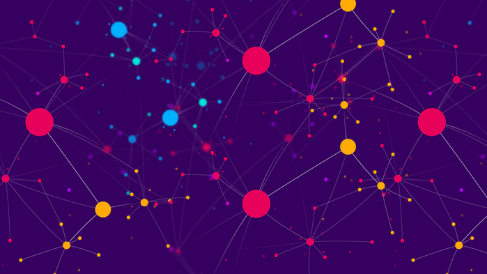 Connected dot network of Cinchy data fab