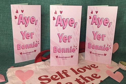 Aye Yer Bonnie Card