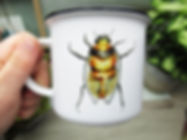 Ceramc Bee Caping Scottish Mug Study