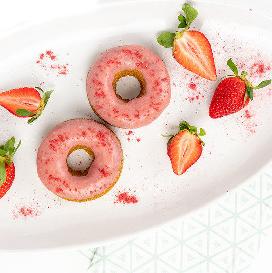 Strawberry Almond Donuts