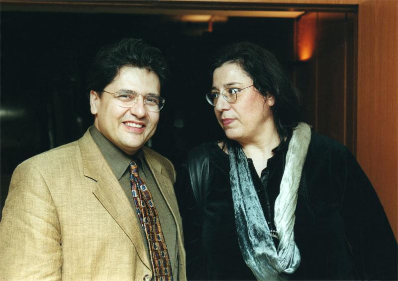 With Maria Farandouri