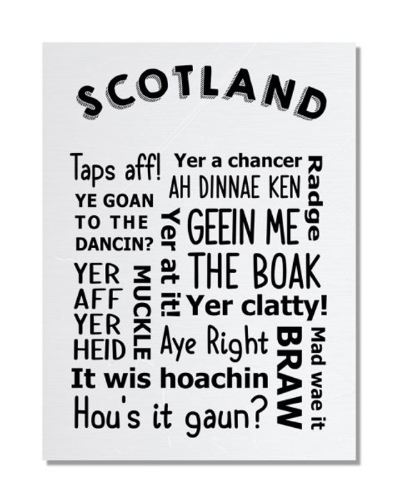 Scottish Slang - Funny Regional Pride Metal Sign | EverythingFunky