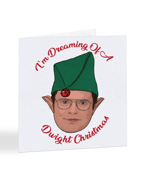 Dwight Christmas.I M Dreaming Of A Dwight Christmas The Office Us Christmas Card