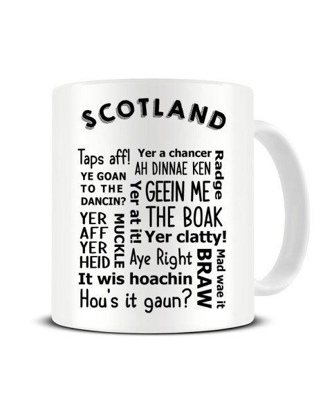 Scottish Slang - Regional Dialect - Funny Ceramic Mug