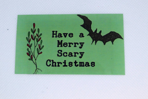 Scary Christmas Magnet
