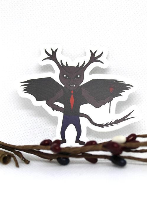 Jersey Devil Cryptid Sticker