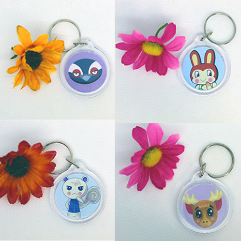 Animal Crossing Villager Amiibo Keychains