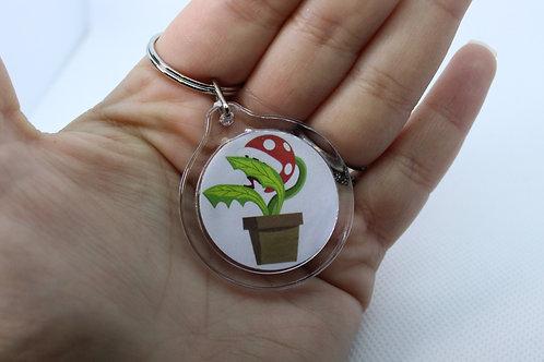 Piranha Plant Amiibo Keychain