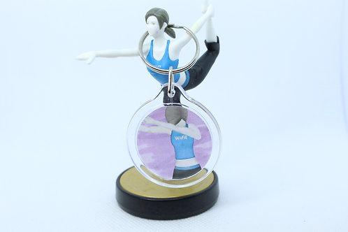 WiiFit Trainer Dabbing Amiibo Keychain