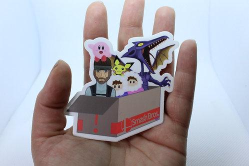 Smash Bros. Box 'o Fun Vinyl Sticker