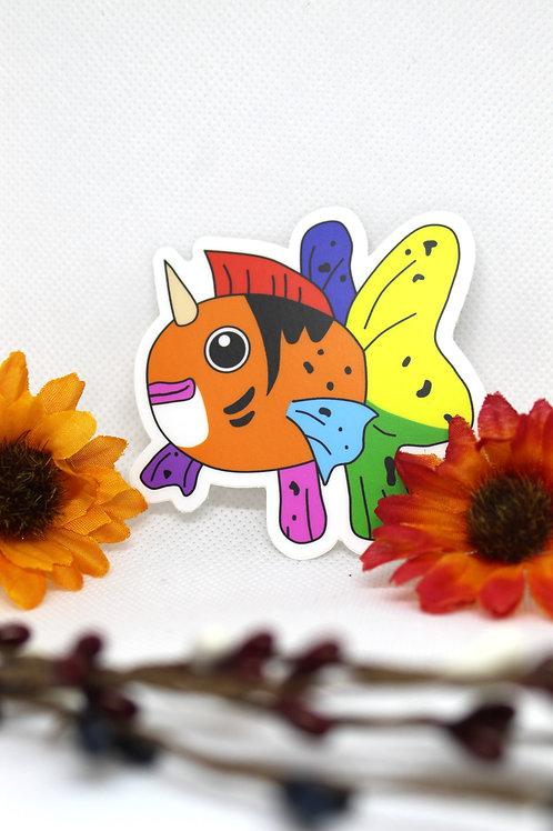 Seaking Pride Pokemon Sticker